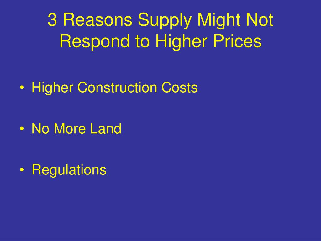 3 Reasons Supply Might Not Respond to Higher Prices