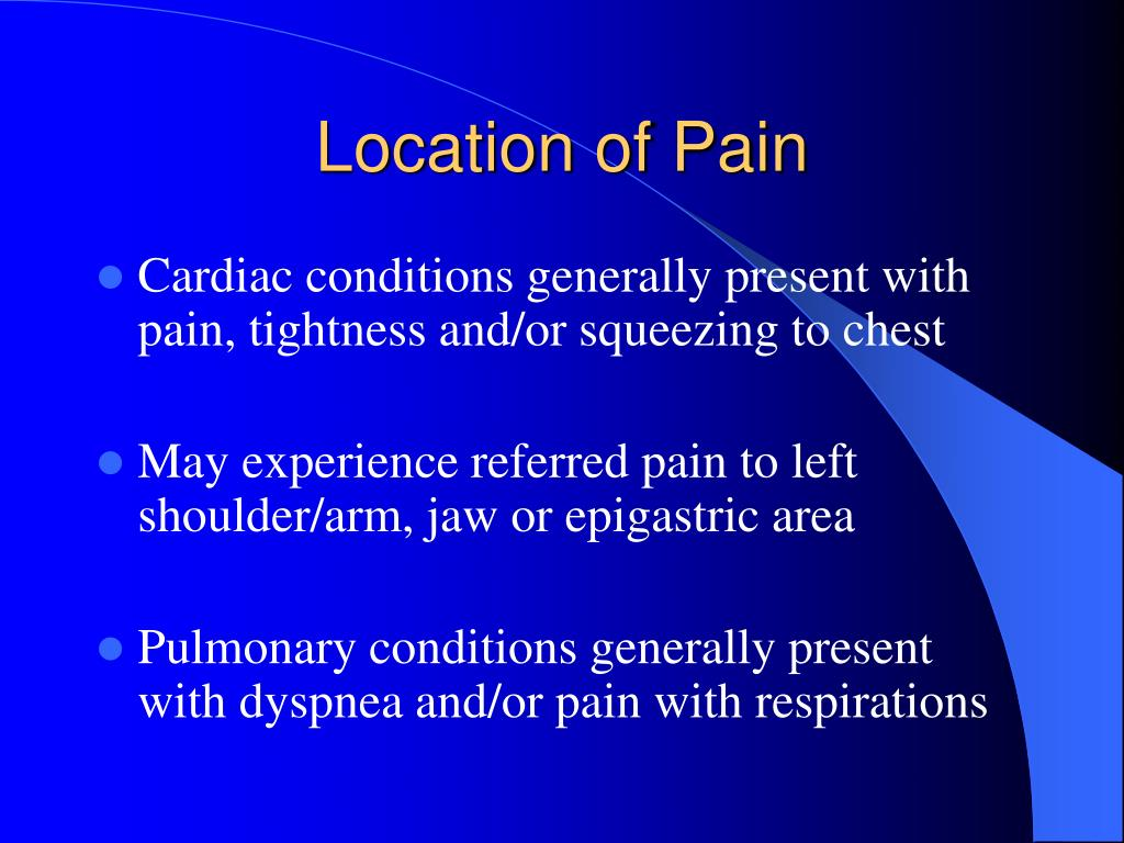 Location of Pain