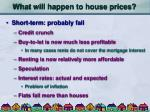 what will happen to house prices