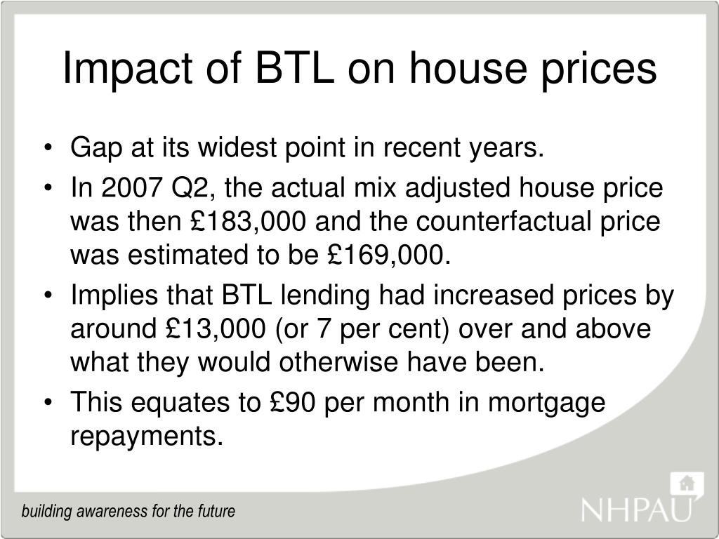 Impact of BTL on house prices