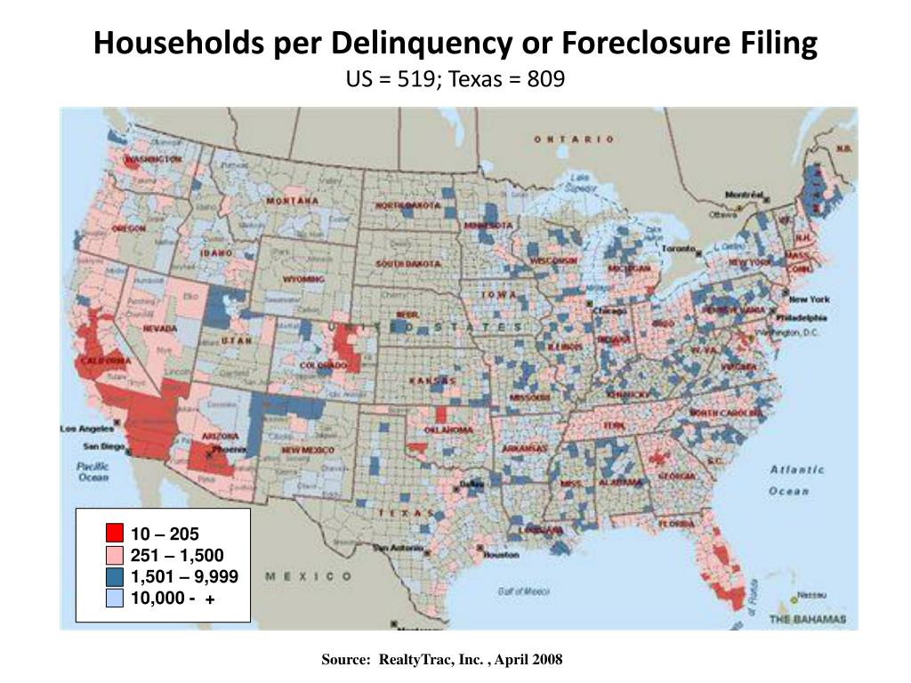 Households per Delinquency or Foreclosure Filing