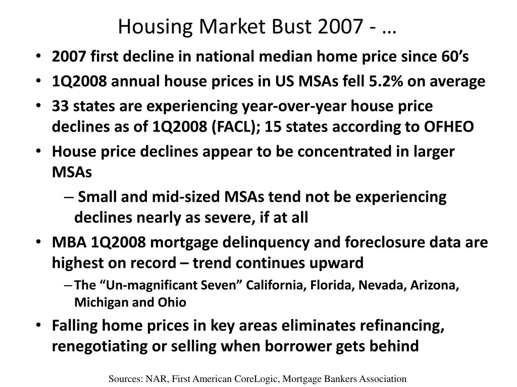 Housing Market Bust 2007 - …