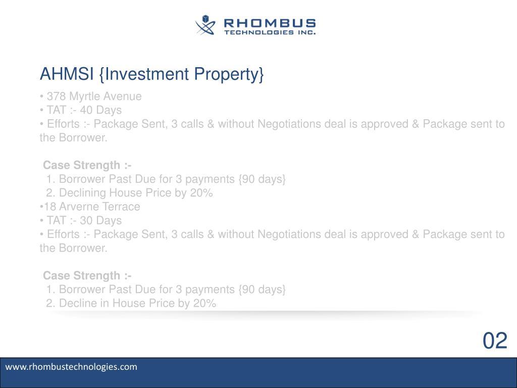 AHMSI {Investment Property}