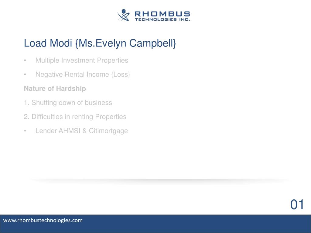 Load Modi {Ms.Evelyn Campbell}