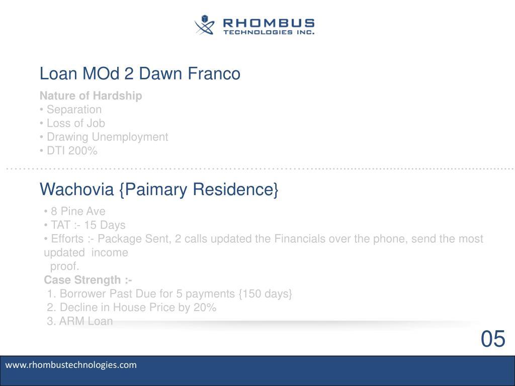 Loan MOd 2 Dawn Franco