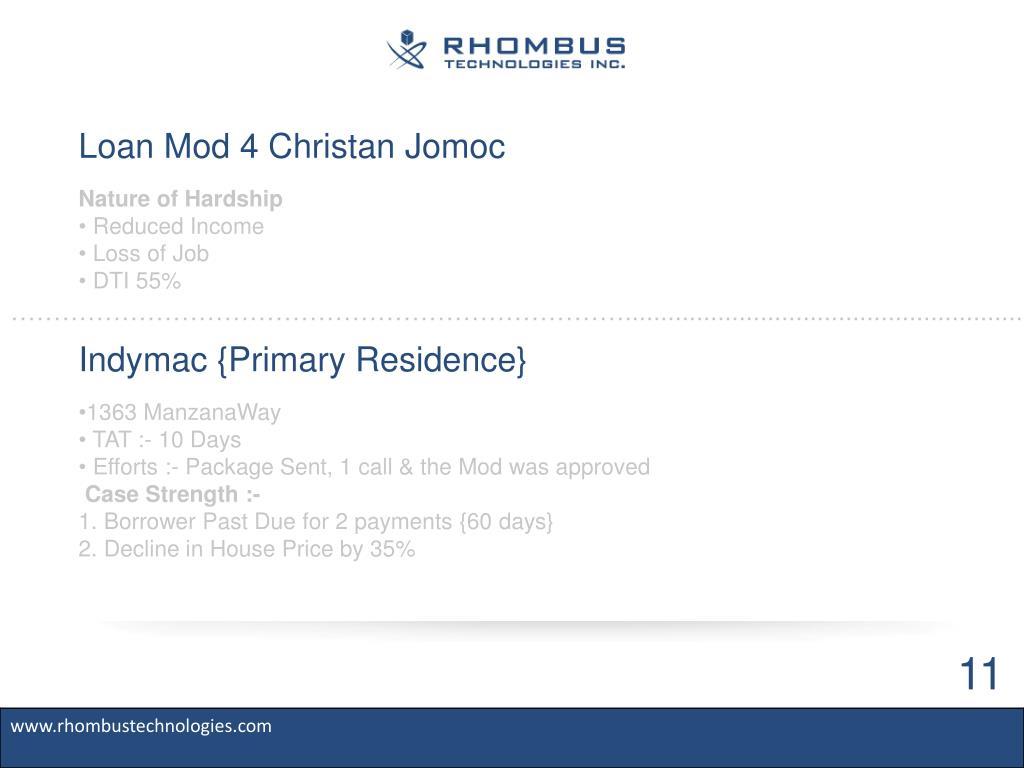 Loan Mod 4 Christan Jomoc