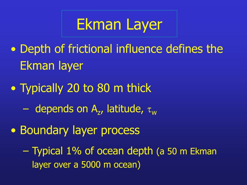 Ekman Layer