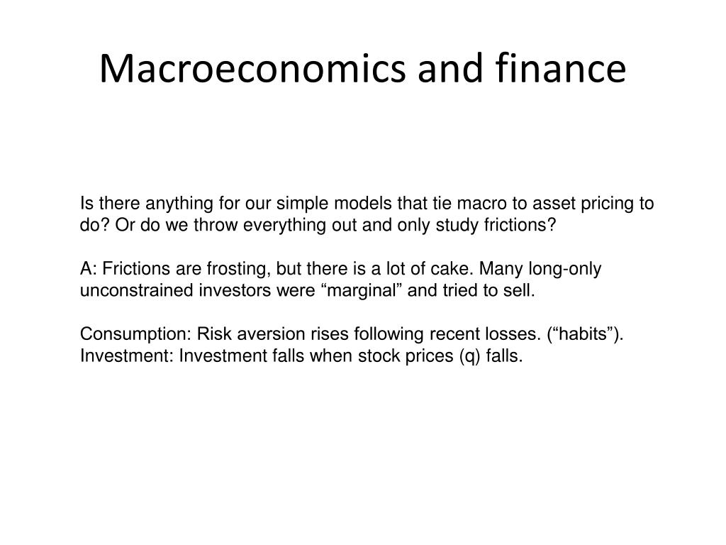 Macroeconomics and finance
