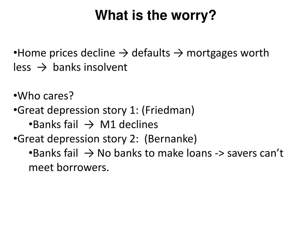 What is the worry?