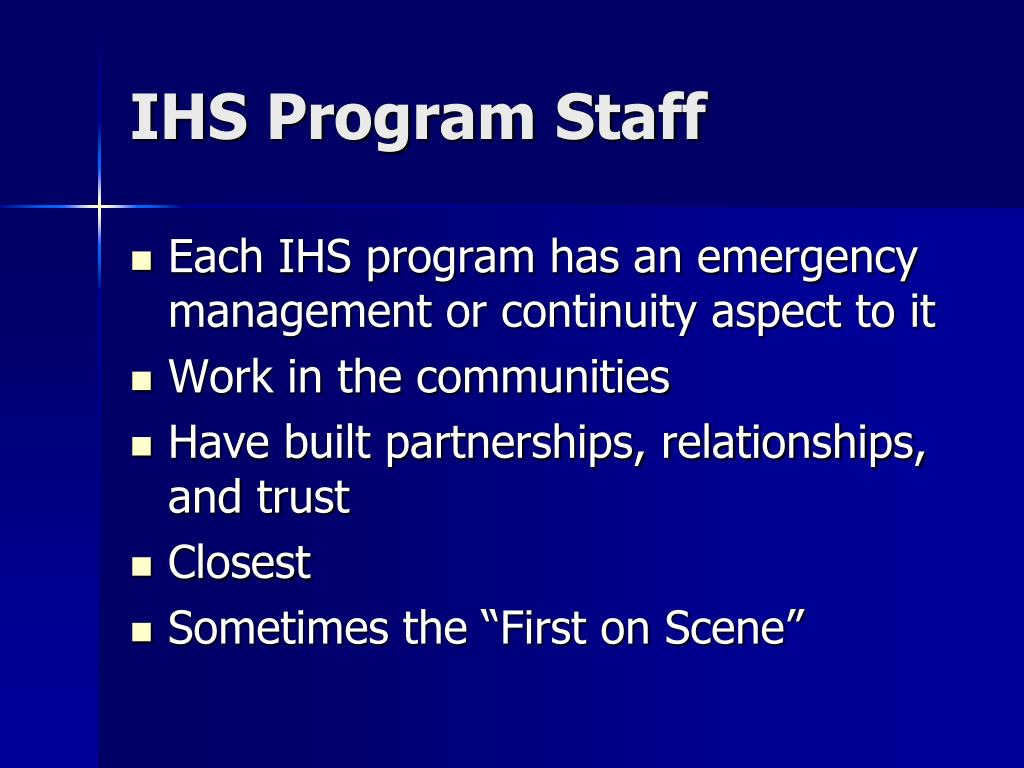 IHS Program Staff