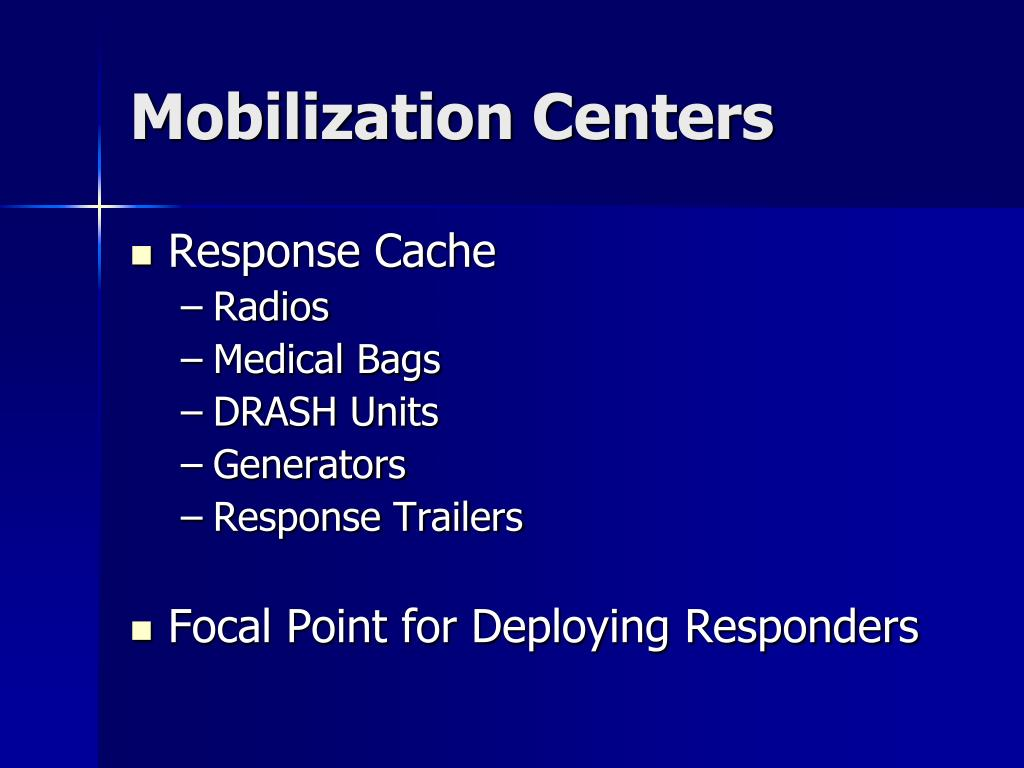 Mobilization Centers
