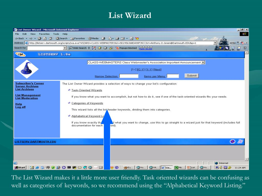 List Wizard
