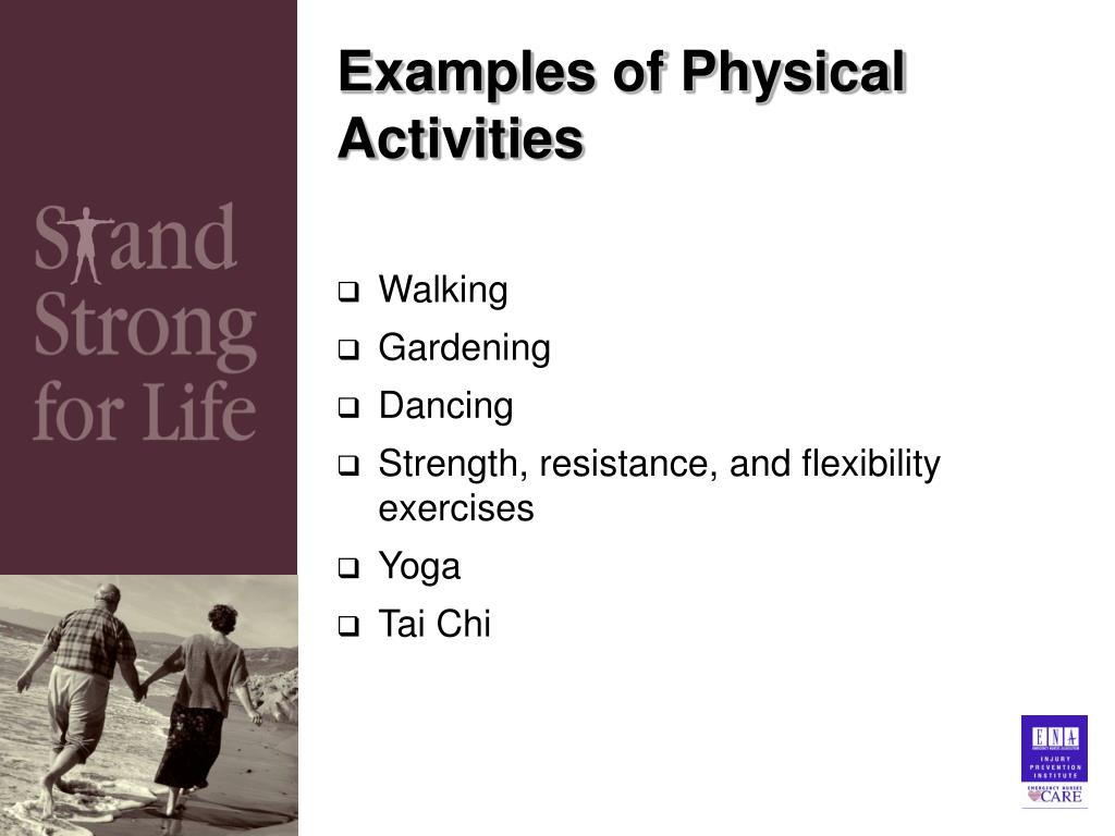 Examples of Physical Activities