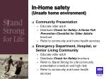 in home safety unsafe home environment
