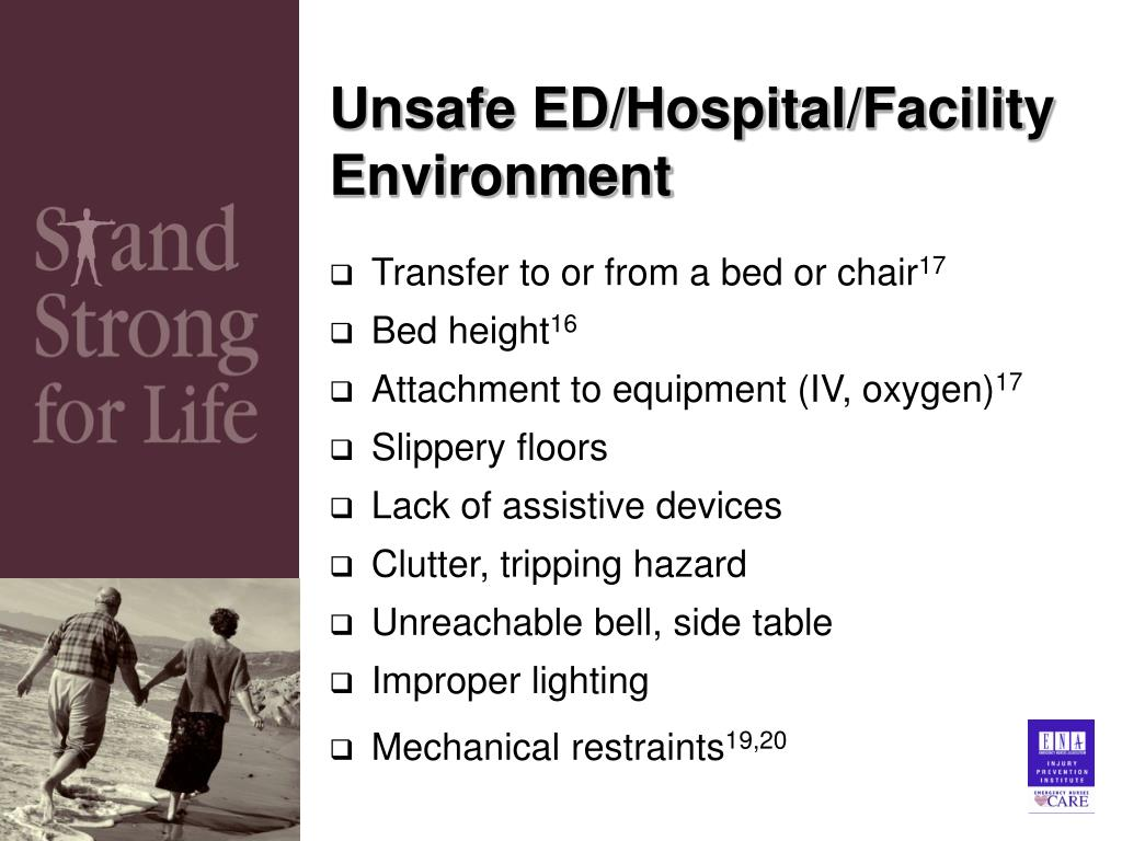 Unsafe ED/Hospital/Facility Environment