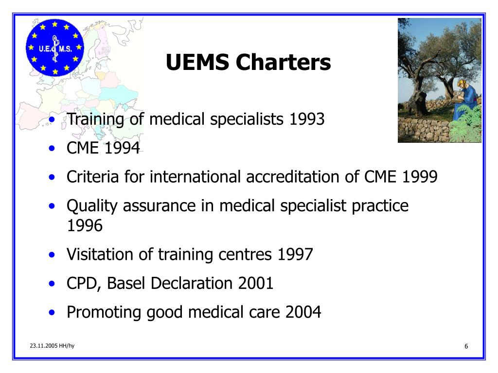 UEMS Charters