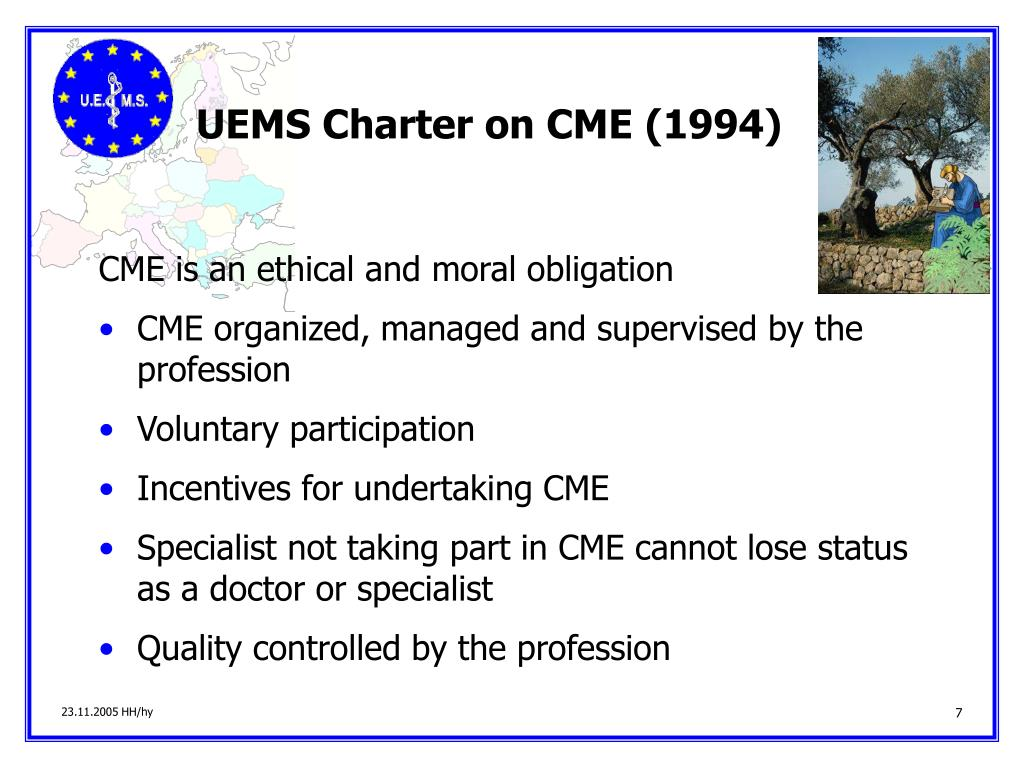 UEMS Charter on CME (1994)