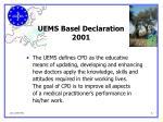 uems basel declaration 2001