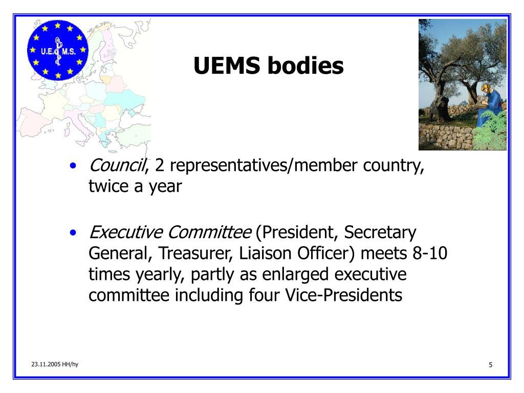 UEMS bodies