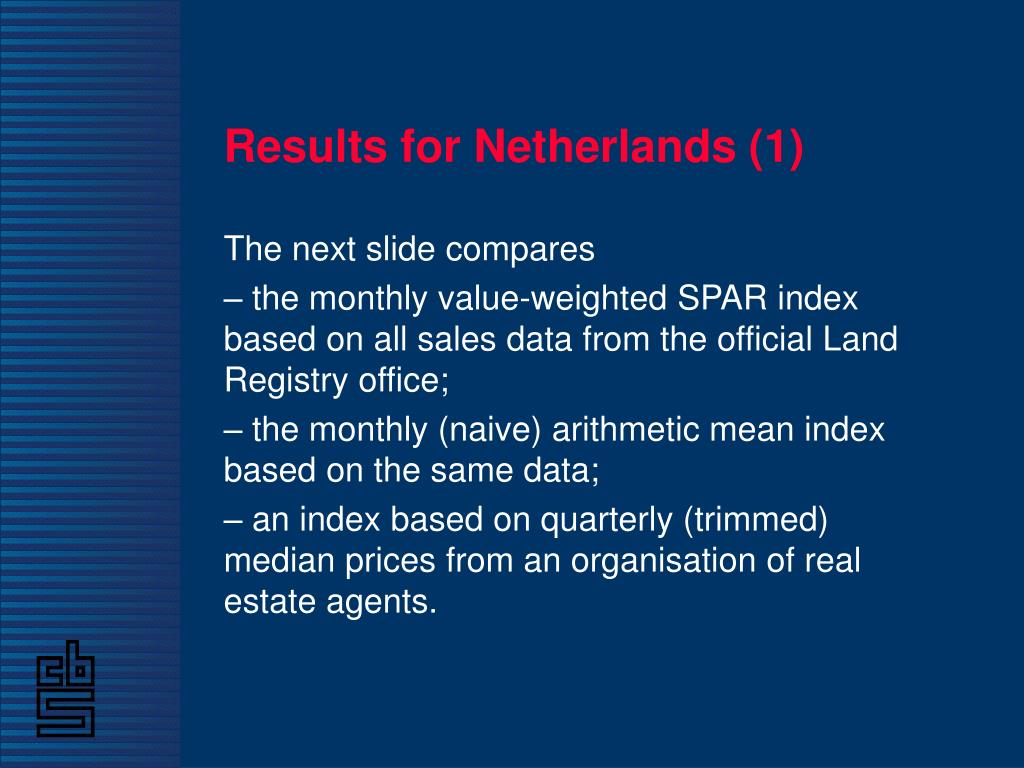 Results for Netherlands (1)