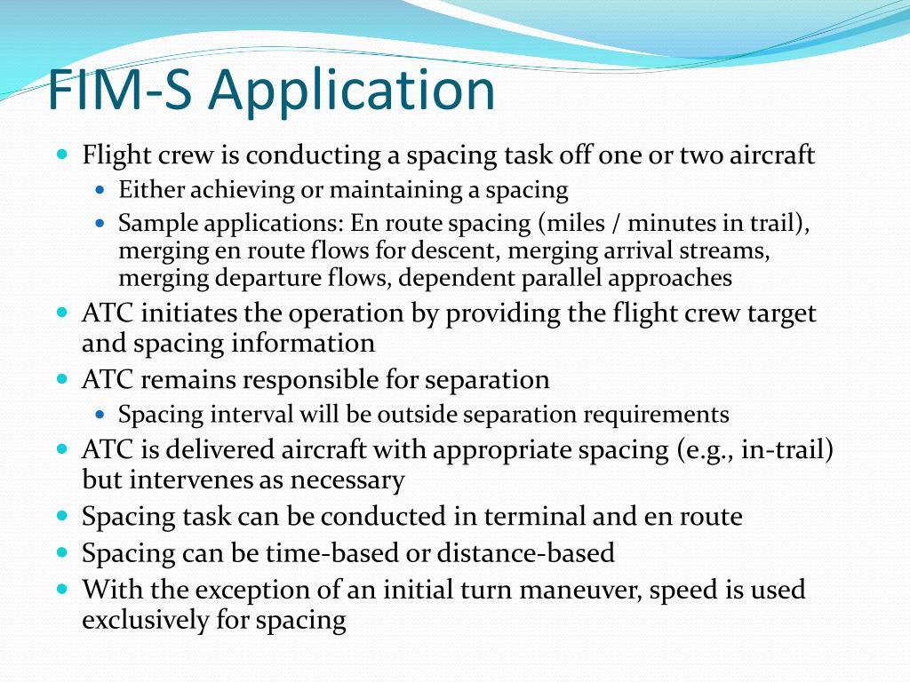 FIM-S Application