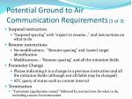 potential ground to air communication requirements 3 of 3