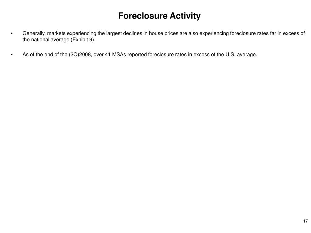 Foreclosure Activity