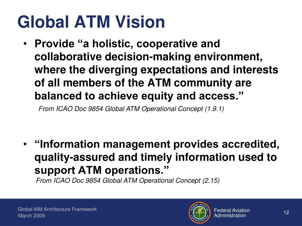 Global ATM Vision