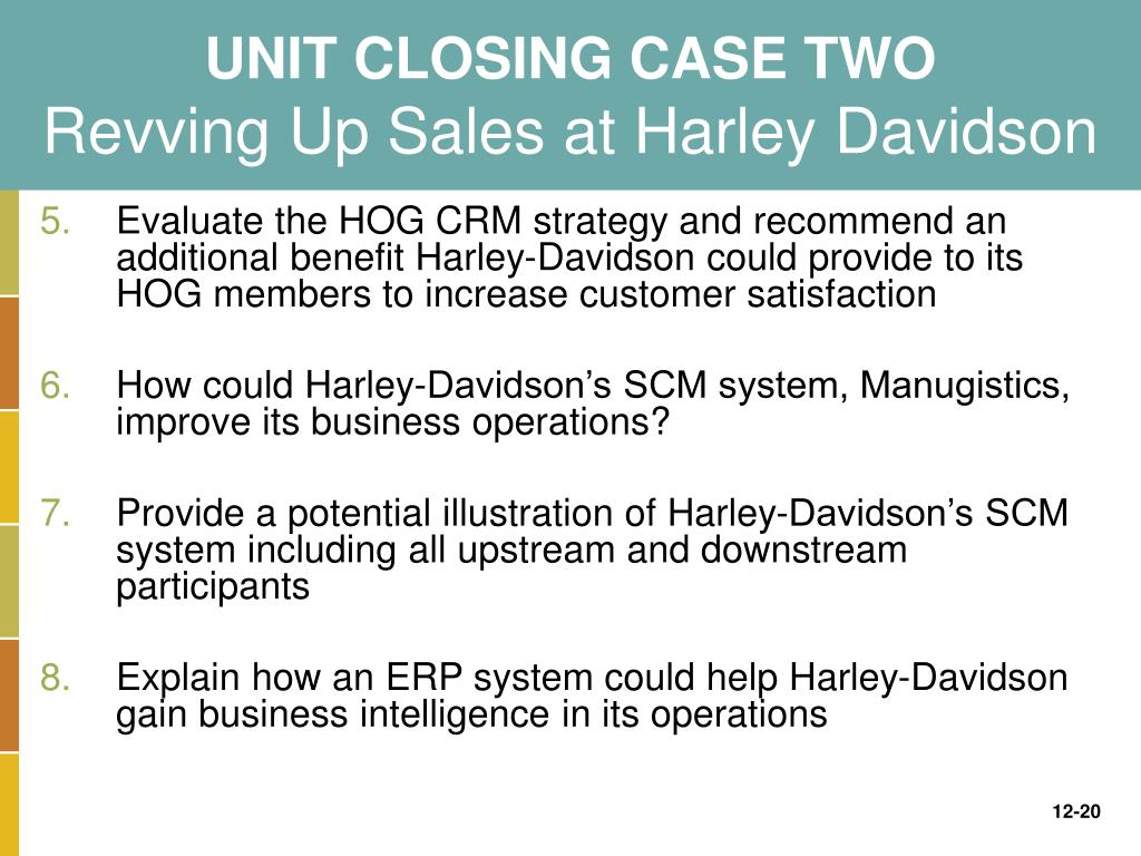 Harley-Davidson's Operations Management: 10 Decisions, Productivity