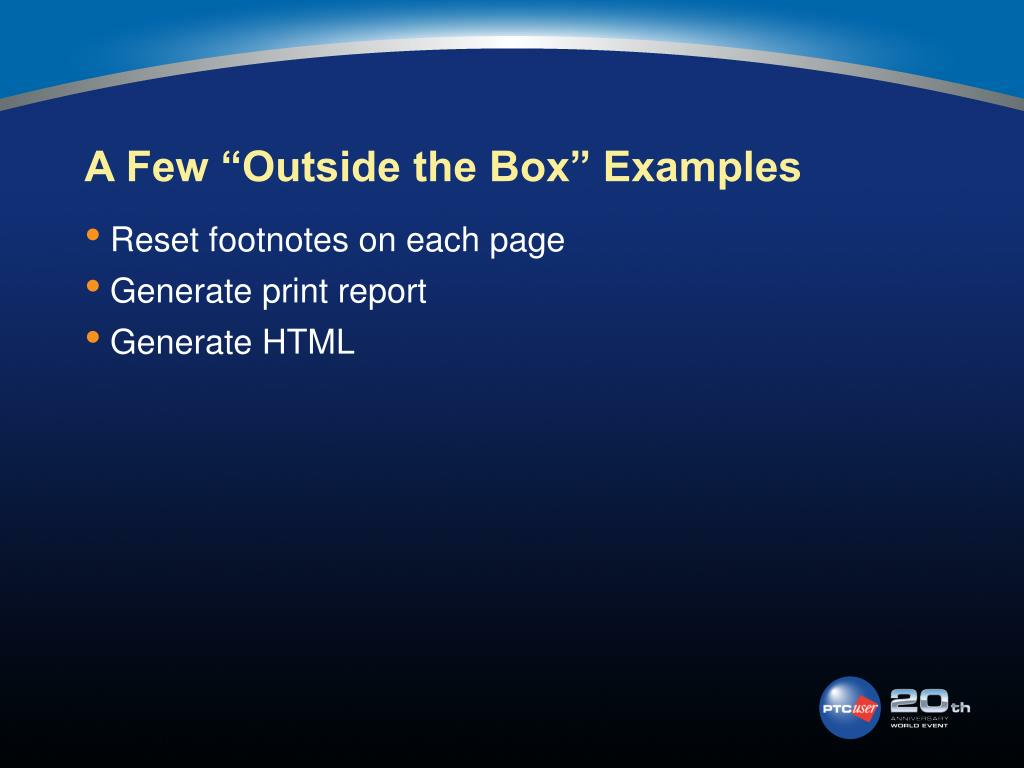 "A Few ""Outside the Box"" Examples"