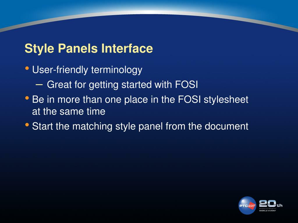 Style Panels Interface