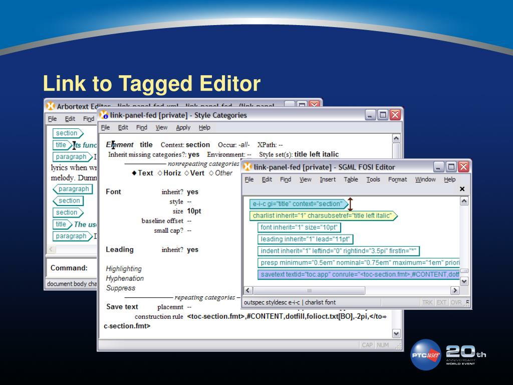 Link to Tagged Editor
