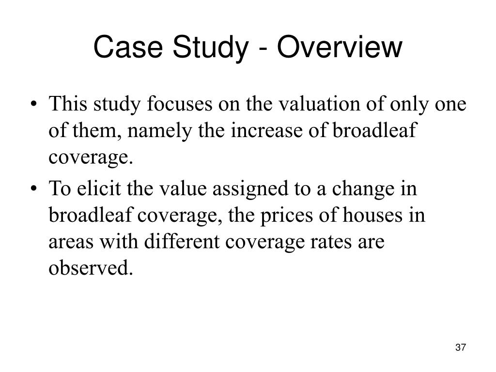 Case Study - Overview