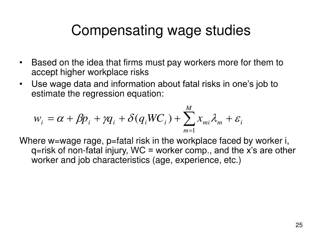 Compensating wage studies