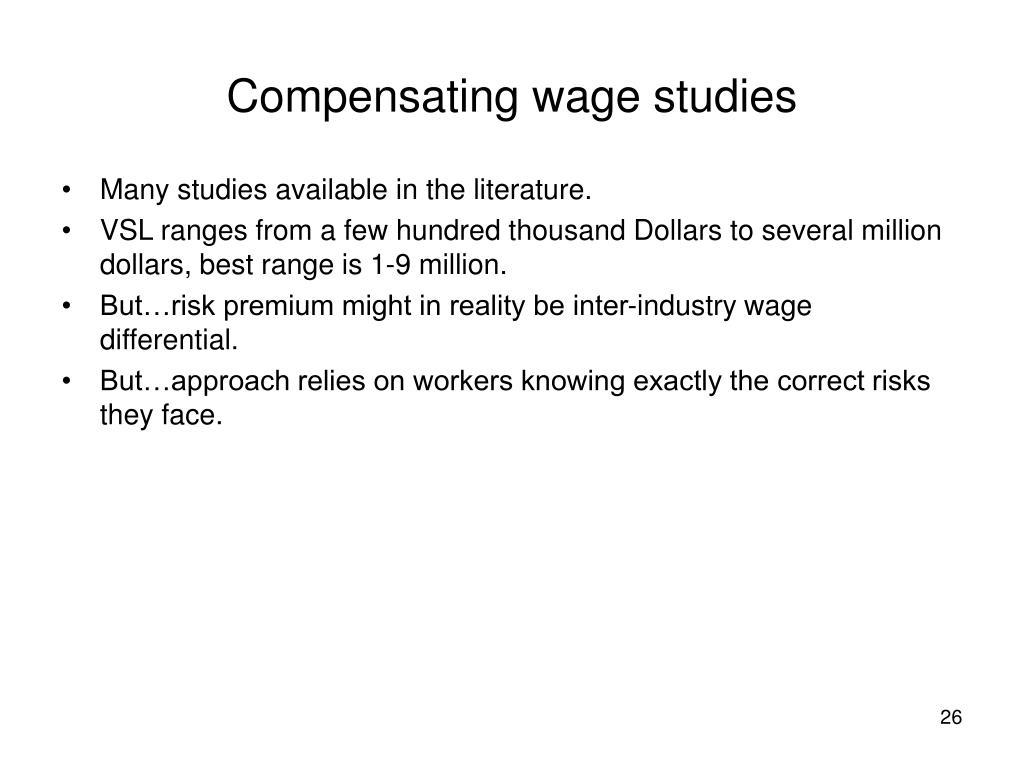 Compensating wage studies