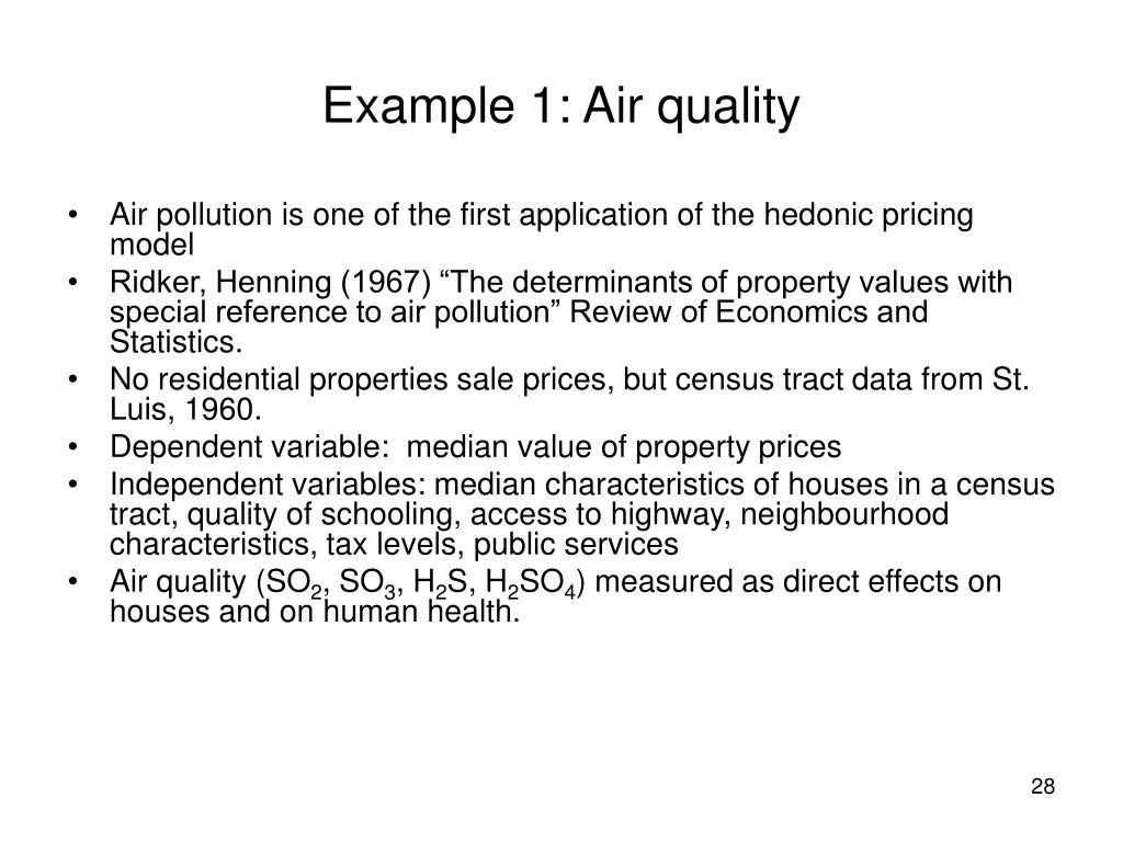 Example 1: Air quality