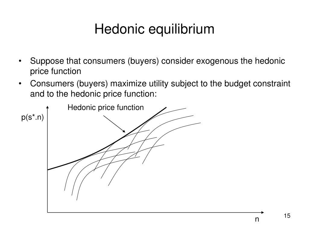 Hedonic equilibrium