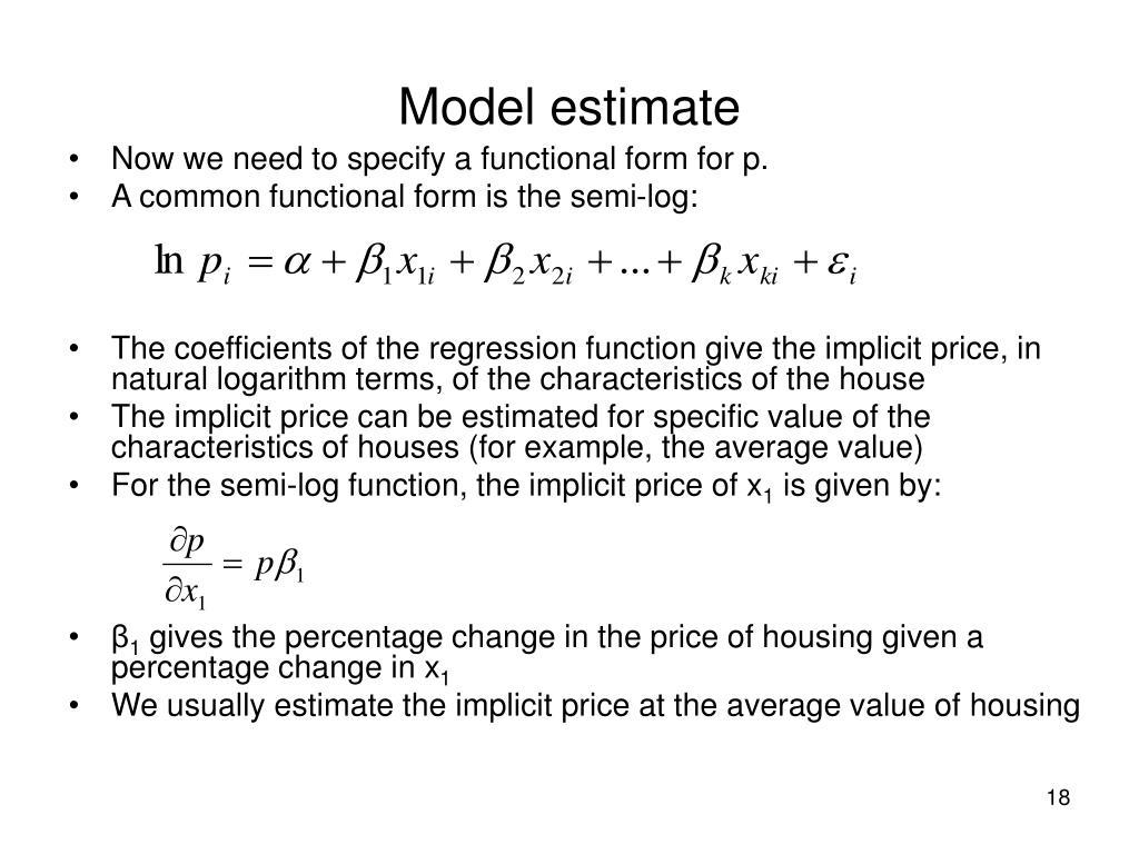 Model estimate