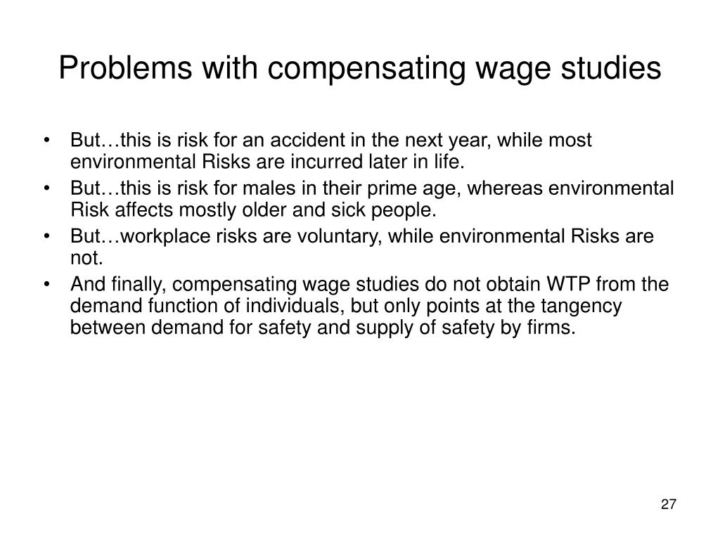 Problems with compensating wage studies