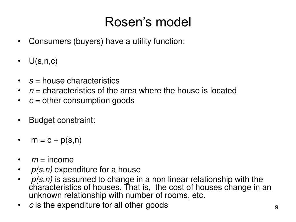 Rosen's model