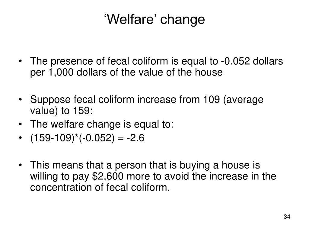 'Welfare' change