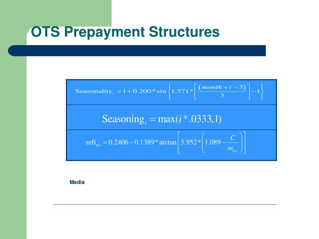 OTS Prepayment Structures