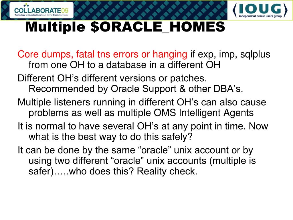Multiple $ORACLE_HOMES
