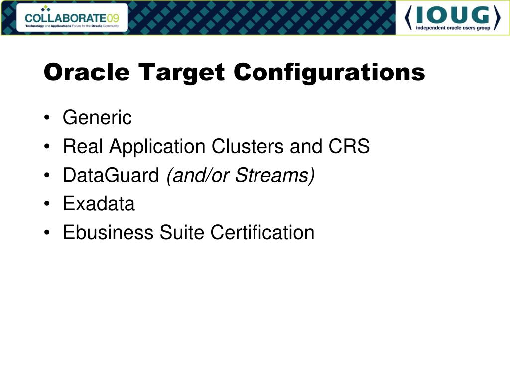 Oracle Target Configurations