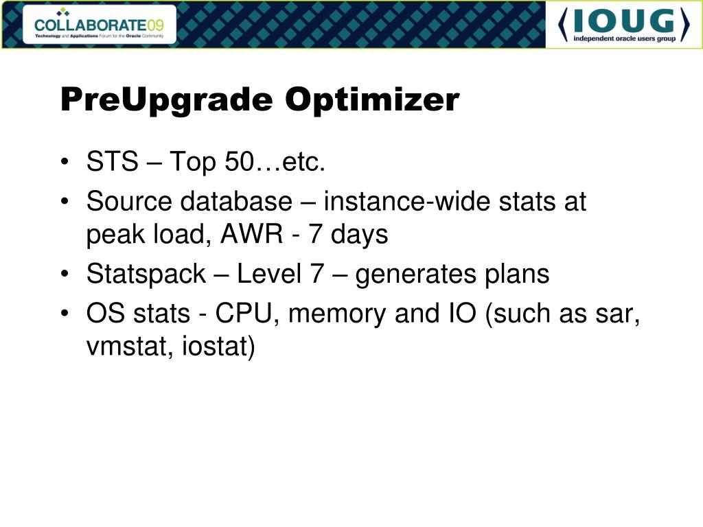 PreUpgrade Optimizer