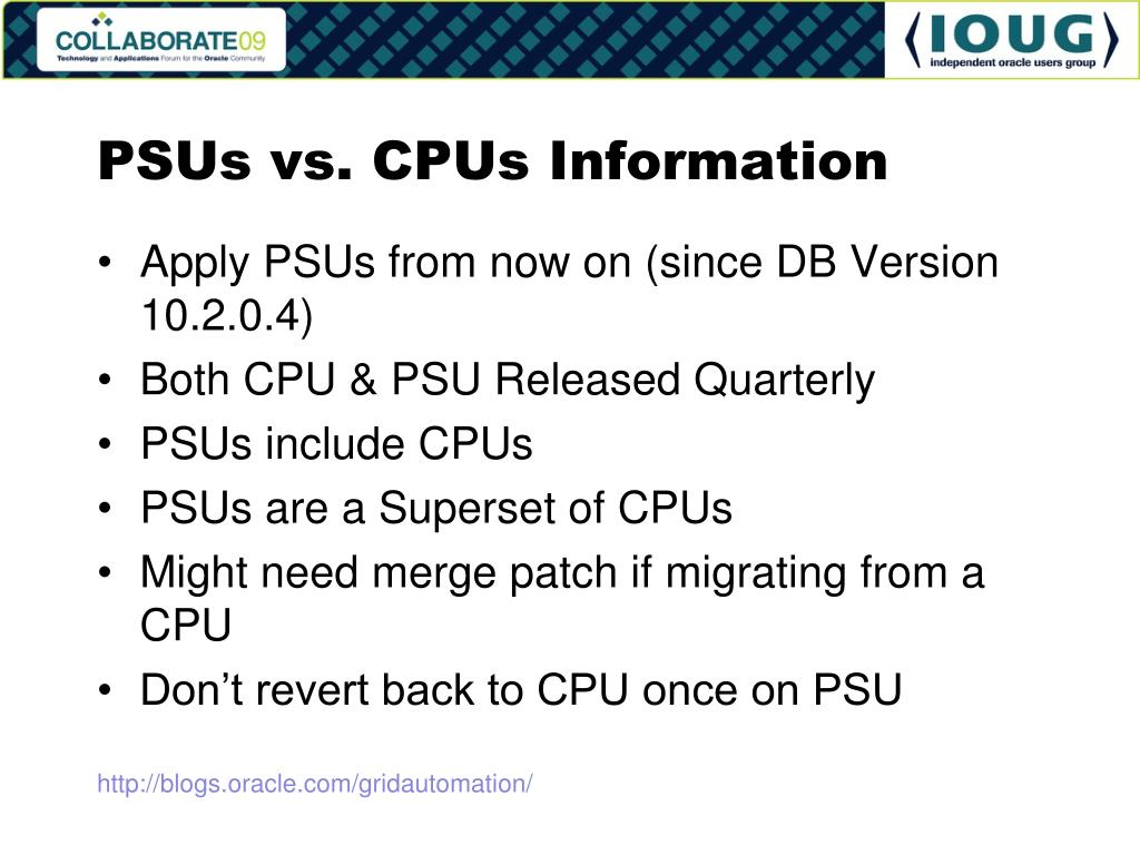 PSUs vs. CPUs Information