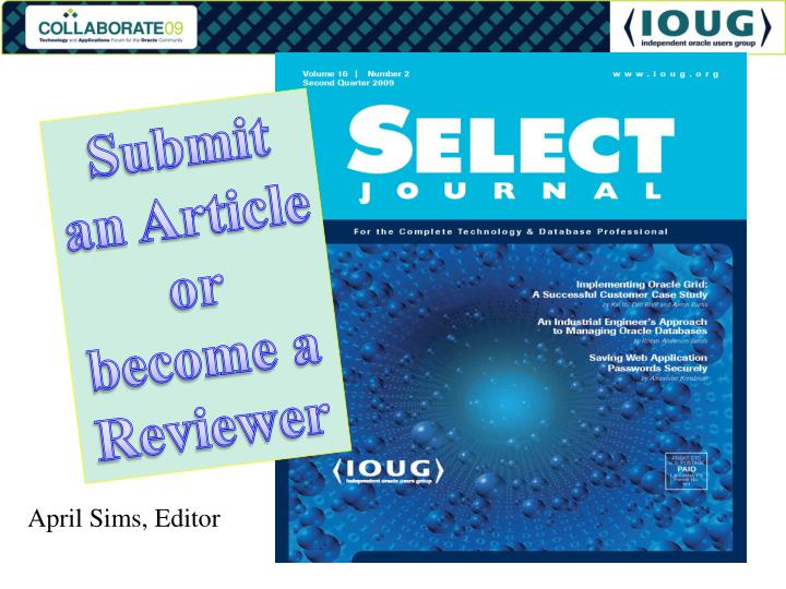 Submit an Article or become a Reviewer