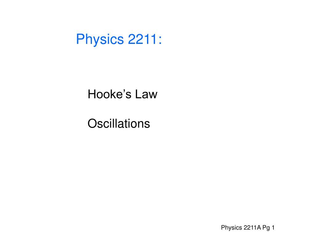 Physics 2211: