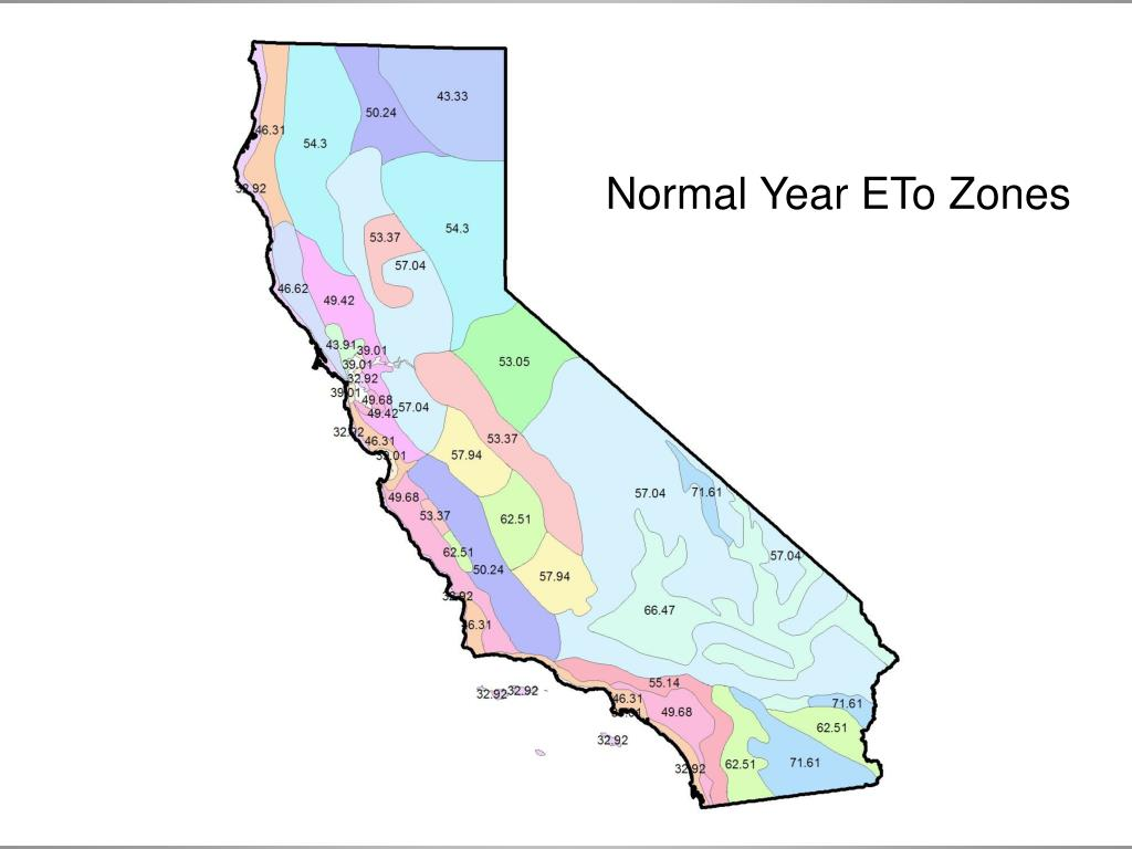 Normal Year ETo Zones