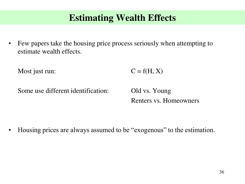 Estimating Wealth Effects